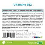 VITAMINE B12 idéale pour les Vegans- 1mg/gélule - FABRICATION FRANÇAISE – 60 gélules végétales ⭐️ SATISFAIT OU REMBOURSE de la marque Nutrimea image 2 produit
