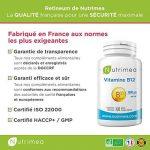 VITAMINE B12 idéale pour les Vegans- 1mg/gélule - FABRICATION FRANÇAISE – 60 gélules végétales ⭐️ SATISFAIT OU REMBOURSE de la marque Nutrimea image 3 produit