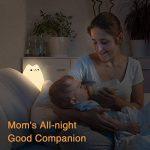 Vitutech Veilleuse Enfant Chat LED,Silicone LED Veilleuse USB Rechargeable Lampe Multicolore LED Veilleuse pour Bébé Lampe de chevet Cadeau Anniversaire Fête Lumière de Nuit de la marque vitutech image 2 produit