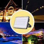 Viugreum® 100W Projecteur LED Extérieur Spot Lumière Puissant 12000 Lumen Eclairage de Sécurité au Sol Chantier Travaux Jardin - Etanche IP65 [6F] - Blanc Chaud (2800-3000K) de la marque Viugreum image 1 produit