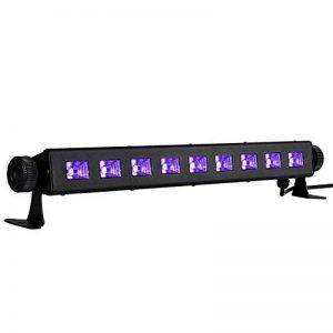 Viugreum® UV LED Bar, 27W 9 LEDs Barre Jeux de Lumière LED UV Blacklight, Lampe Ultra-Violet Eclairage Puissant pour Affiches Maquillage Peinture Corporelle Fluo Deco Effect Soirée Party Club Bar … de la marque Viugreum image 0 produit