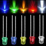 Waycreat 375pcs 5mm 5couleurs diffuse rond LED DIODES lumineuses Couleurs assorties kit (100K résistances incluses) de la marque Waycreat image 2 produit