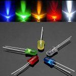 Waycreat 375pcs 5mm 5couleurs diffuse rond LED DIODES lumineuses Couleurs assorties kit (100K résistances incluses) de la marque Waycreat image 3 produit