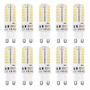 WELSUN Ampoule Led Gu9 G9 3W T 48 SMD 2835 220 lm Blanc Chaud / Blanc Froid Etanches AC 100-240 V 10 pièces ( Beam Angle : 360° , Light Source Color : Warm White ) de la marque WELSUN image 0 produit