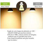 Wenscha spot de plafond MR16 6pc 5W LED ampoule 2800K GU5.3, AC/DC 12V, 400LM lampe Spot remplace Ampoule Halogène 40W angle d'éclairage 120° 60 x 2835 SMD [classe énergétique A ++] (blanc chaud) de la marque Wenscha image 4 produit