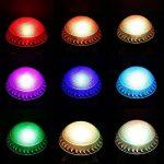 WEYO Lot de 4 3W Ampoule Led GU10 RGB Spot Culot led Changement de Couleur, Avec Télécommande, 16 Couleur + 4 Mode de Lumière, Ampoules Led RGB Dimmable Spots LED 3W, Lampe Led Angle de 120° GU10 Douille,Lumiere led Lumière d'humeur Pour Anniversaire, Déc image 2 produit