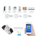 Wifi minuterie, Gezichta Wifi sans fil Smart Switch Module Modifiés Coque ABS Douille à faible coût mise à jour Smart Home Solution avec minuteur, fonctionne avec Alexa et Google Home de la marque GEZICHTA image 3 produit