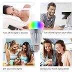Wifi Smart ampoule lumière, TOP-MAX E26/E277W RGB Ampoule LED à intensité variable Fonctionne avec Amazon Alexa Google Assistant et contrôle à distance par smartphone à changement de couleur Fonction de Minutage de la marque TOPMAX image 1 produit