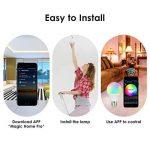 Wifi Smart ampoule, RGB Ampoule, à intensité variable souple Blanc chaud, fonctionne avec Amazon, Alexa distant contrôlé par iOs Smartphone Android (avec ampoule Adaptateurs de base en option), 1 Bulb+1 E27 to E27 Longer Adapter, Round, 4.50W de la marque image 3 produit