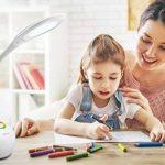 WILIT HZ T3 5W Lampe de Table Dimmable, Lampe de Bureau LED, Lampe de Chevet pour Enfants, Champ Tactile pour la Lumière de Couleur et 3 Niveaux de Luminosité, Confortable pour les Yeux, Blanc de la marque WILIT image 4 produit