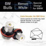 Win Power 5W Cree LED Angel Eye Halo anneau Light Marker ampoules avec Canbus aucune erreur Xenon blanc 6000K kit,2Pcs de la marque Winpower image 2 produit