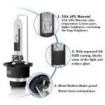 Win Power D2R HID Xénon Ampoule de Remplacement Kit 35 W 6000 K Cool Blanc Métal Stents 12V Lampe de Conversion de Phare de Voiture, 1 Paire de la marque Winpower image 2 produit