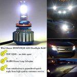 Win Power H11 H8 H9 Cree LED Phare Ampoules Éclairage Avant Kit de Conversion Tout-en-un Blanc Froid 6000K 7200Lm 70W 2 Pièces de la marque Winpower image 4 produit