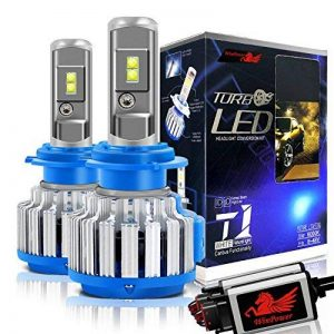 Win Power H7 Cree LED Éclairage Avant Kit de conversion tout-en-un Blanc froid 7,200 lm 70 W 6 000 K 2 ampoules de la marque Winpower image 0 produit