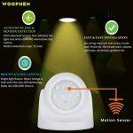 WOOPHEN capteur de mouvement lumineux LED sans fil pour intérieur et extérieur Lumière de porche/projecteur - Auto ON/OFF à piles (blanche) de la marque WOOPHEN image 1 produit