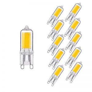Wulun 10-pack G92W ampoules LED, ampoules halogène G9de 25W de remplacement, G92W COB ampoules LED à économie d'énergie, Blanc Froid 6000K Lampes à LED, AC 220–240V, 360° Angle de faisceau, variateur d'intensité, 250lm, IRC > 80 de la marque WULU image 0 produit