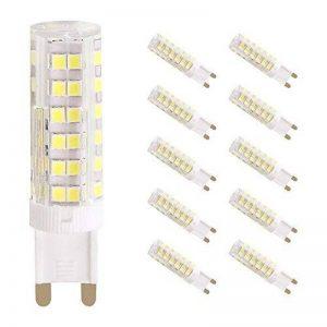 Wulun 7W G9ampoules LED, 65W halogène G9ampoules de remplacement, 76SMD 2835ampoules LED à économie d'énergie, 6000K Super Lumineux Lampes LED Blanc froid, AC 220–240V, 360° Angle de faisceau, variateur d'intensité, 650lm, IRC > 80, ampoule LED, image 0 produit