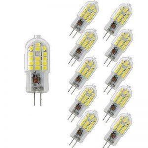 Wulun G4ampoules LED, 3W Blanc Froid 6000K Lampes à LED, 30W Ampoule halogène équivalent, 360° Angle de faisceau, 300LM, 220V-240AC, non compatible avec variateur d'intensité, Lot de 10 de la marque wulun image 0 produit