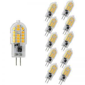 WULUN G4 LED Bulbs, 3 Watt Warm White 3000K LED Lamps,30 Watt Halogen Bulbs Equivalent,360°Beam Angle,300lm,220v-240v AC,Non Dimmable,Pack of 10 [Energy Class A++] de la marque WULUN image 0 produit