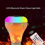 XF Lighting LED RGB Flammes Sans Fil Haut-Parleur Bluetooth Lumière D'ampoule De Musique E27 Musique Jouant La Lampe Avec Coloré (2Pack) de la marque XF Lighting image 1 produit