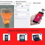 XF Lighting LED RGB Flammes Sans Fil Haut-Parleur Bluetooth Lumière D'ampoule De Musique E27 Musique Jouant La Lampe Avec Coloré (2Pack) de la marque XF Lighting image 2 produit