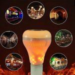 XF Lighting LED RGB Flammes Sans Fil Haut-Parleur Bluetooth Lumière D'ampoule De Musique E27 Musique Jouant La Lampe Avec Coloré (2Pack) de la marque XF Lighting image 4 produit
