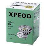 Xpeoo® Pack de 10 unités 6W LED MR16 GU5.3 lumière du jour Ampoule Equivalente à une Halogène de 50 W Spot Light Design Avant-gardiste Lampe Lamp lumière Bulb 520 lm Cool White Blanc froid Naturel Neutre 4500-5000k Éclairage DC AC 12V de la marque CYLED image 4 produit