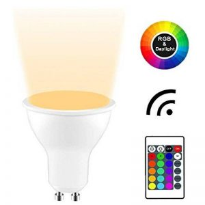 Yayza! 4-Pack Premium Dimmable GU10 6W RGB + blanc froid 6000K Couleur changeante IR Télécommande LED Spot Downlight Ampoule de la marque YAYZA! image 0 produit