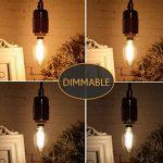 Yiiyaa Chandelier Ampoule LED Dimmable E14 Base, 4W=40W équivalent Vintage Antique Terrasse Mur plafond Festival Bar Décoration LED Lustre lumières Sharp Pointe 230V - Lot de 5 de la marque YIIYAA Lighting image 4 produit