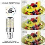 Yiizon 12 W LED Maïs ampoules, B22, 100W Ampoule à incandescence équivalent, 6000K Blanc Froid, 1200LM, Cri>80 +, Petit culot à vis, non dimmable, Chandelier ampoules LED(4 PCS) de la marque Yiizon image 2 produit
