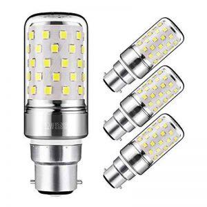 Yiizon 12 W LED Maïs ampoules, B22, 100W Ampoule à incandescence équivalent, 6000K Blanc Froid, 1200LM, Cri>80 +, Petit culot à vis, non dimmable, Chandelier ampoules LED(4 PCS) de la marque Yiizon image 0 produit