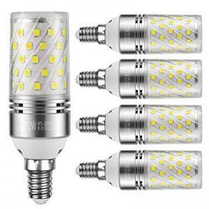 Yiizon 12 W LED Maïs ampoules, E14, 100W Ampoule à incandescence équivalent, 6000K Blanc Froid, 1200LM, Cri>80 +, Petit culot à vis, non dimmable, Chandelier ampoules LED(5 PCS) de la marque Yiizon image 0 produit