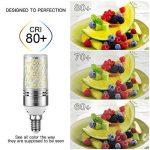 Yiizon 12 W LED Maïs ampoules, E14, 100W Ampoule à incandescence équivalent, 6000K Blanc Froid, 1200LM, Cri>80 +, Petit culot à vis, non dimmable, Chandelier ampoules LED(5 PCS) de la marque Yiizon image 2 produit