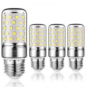 Yiizon 12 W LED Maïs ampoules, E27, 100W Ampoule à incandescence équivalent, 6000K Blanc Froid, 1200LM, Cri>80 +, Petit culot à vis, non dimmable, Chandelier ampoules LED(4 PCS) de la marque Yiizon image 0 produit