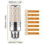 Yiizon 15 W LED Maïs ampoules, E27, 120W Ampoule à incandescence équivalent, 3000K Blanc Chaud, 1500LM, Cri>80 +, Petit culot à vis, non dimmable, Chandelier ampoules LED(4 PCS) de la marque Yiizon image 1 produit