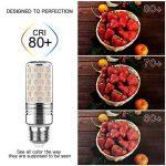 Yiizon 15 W LED Maïs ampoules, E27, 120W Ampoule à incandescence équivalent, 3000K Blanc Chaud, 1500LM, Cri>80 +, Petit culot à vis, non dimmable, Chandelier ampoules LED(4 PCS) de la marque Yiizon image 4 produit