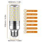 Yiizon 15 W LED Maïs ampoules, E27, 120W Ampoule à incandescence équivalent, 6000K Blanc Froid, 1500LM, Cri>80 +, Petit culot à vis, non dimmable, Chandelier ampoules LED(4 PCS) de la marque Yiizon image 1 produit