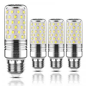 Yiizon 15 W LED Maïs ampoules, E27, 120W Ampoule à incandescence équivalent, 6000K Blanc Froid, 1500LM, Cri>80 +, Petit culot à vis, non dimmable, Chandelier ampoules LED(4 PCS) de la marque Yiizon image 0 produit
