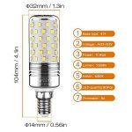 Yiizon 15 W LED Maïs ampoules, E14, 120W Ampoule à incandescence équivalent, 6000K Blanc Froid, 1500LM, Cri>80 +, Petit culot à vis, non dimmable, Chandelier ampoules LED(4 PCS) de la marque Yiizon image 1 produit