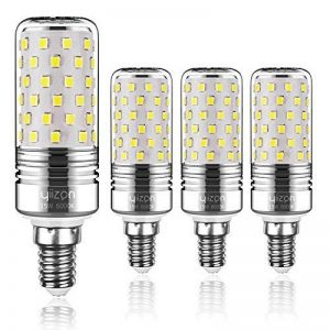 Yiizon 15 W LED Maïs ampoules, E14, 120W Ampoule à incandescence équivalent, 6000K Blanc Froid, 1500LM, Cri>80 +, Petit culot à vis, non dimmable, Chandelier ampoules LED(4 PCS) de la marque Yiizon image 0 produit