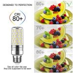 Yiizon 15 W LED Maïs ampoules, E27, 120W Ampoule à incandescence équivalent, 6000K Blanc Froid, 1500LM, Cri>80 +, Petit culot à vis, non dimmable, Chandelier ampoules LED(4 PCS) de la marque Yiizon image 4 produit