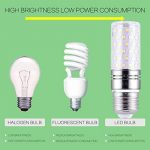 Yiun E27 LED Bougie Ampoules, 15W LED Candelabra Ampoules 120 Watts Équivalent, 1400lm, Cool White 6000K LED Ampoules Lustre, Base de bougie décorative E27, Lampe LED non-Dimmable, Lot de 4 de la marque Yiun image 4 produit