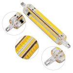 Yongjia R7s 118mm 12W luminosité Dimmable R7s Ampoule LED, Blanc chaud 3000K 1000LM 164smd 5730LED R7s AC200–240V de la marque YongJia image 1 produit