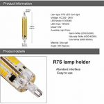 Yongjia R7s 118mm 12W luminosité Dimmable R7s Ampoule LED, Blanc chaud 3000K 1000LM 164smd 5730LED R7s AC200–240V de la marque YongJia image 2 produit