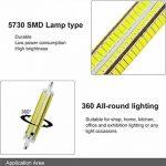 Yongjia R7s 118mm 12W luminosité Dimmable R7s Ampoule LED, Blanc chaud 3000K 1000LM 164smd 5730LED R7s AC200–240V de la marque YongJia image 3 produit