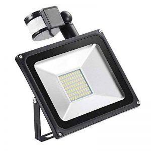 Yuanline Led Projecteur Détecteur de Mouvements, Imperméable IP65 Spot Floodlight Eclairage extérieur (Blanc chaud, 50W) de la marque Yuanline image 0 produit