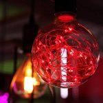 YUENSLIGHTING Coloré G95 LED Globe Ampoule Filament Cuivre Fil Edison Ampoule Vacances Lumières Décor Pour La Maison De Mariage De Noël Arbre Partie E27 Base Titulaire rouge de la marque YUENSLIGHTING image 2 produit