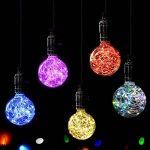 YUENSLIGHTING Coloré G95 LED Globe Ampoule Filament Cuivre Fil Edison Ampoule Vacances Lumières Décor Pour La Maison De Mariage De Noël Arbre Partie E27 Base Titulaire rouge de la marque YUENSLIGHTING image 3 produit