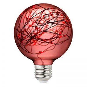 YUENSLIGHTING Coloré G95 LED Globe Ampoule Filament Cuivre Fil Edison Ampoule Vacances Lumières Décor Pour La Maison De Mariage De Noël Arbre Partie E27 Base Titulaire rouge de la marque YUENSLIGHTING image 0 produit