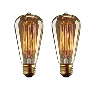 YUNLIGHTS 2 Pack Dimmable Edison Lampe ST64 220-240V 40W 140lm E27 Edison Ampoule Antique Lampe Filament Vintage Blanc Chaud de la marque YUNLIGHTS image 0 produit